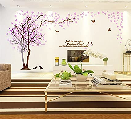 Amazon.com: Tickos Wall Decals Stickers,DIY 3D Huge Couple Tree Wall ...