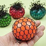 "1 PCS Topseller Mesh Ball, Grape Stress Relief Squeezing Ball Hand Wrist Toy Random Color - 1.97"""