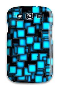New Fashionable CaseyKBrown SexPSiq9731ecsfI Cover Case Specially Made For Galaxy S3(neon Squares)