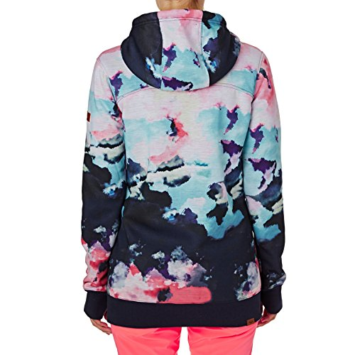 con Nine Roxy e Neon in Frost Grapefruit Cappuccio Zip Felpa Cloud Donna Sherpa Printed OgqF6wgxX