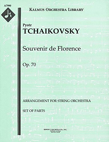 Souvenir de Florence, Op.70 (Arrangement for string orchestra): Set of Parts [A7990]