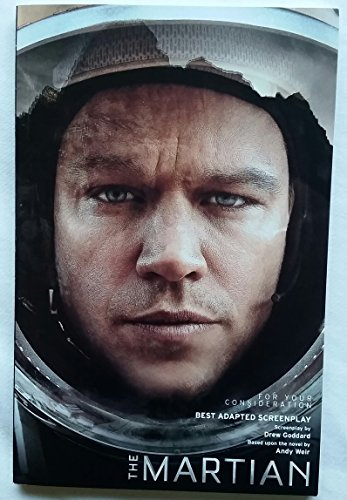 The Martian Script Shooting Screenplay for your consideration