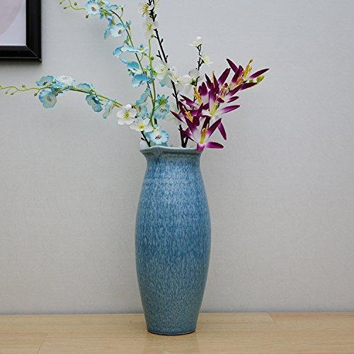 Vase Flower Pot Home decoration creative Romantic blue glaze vase home Decoration-3pcs set