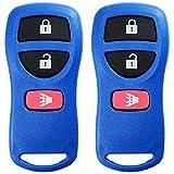 xterra interior parts - KeylessOption Keyless Entry Remote Control Car Key Fob Replacement for KBRASTU15, CWTWB1U733-Blue (Pack of 2)
