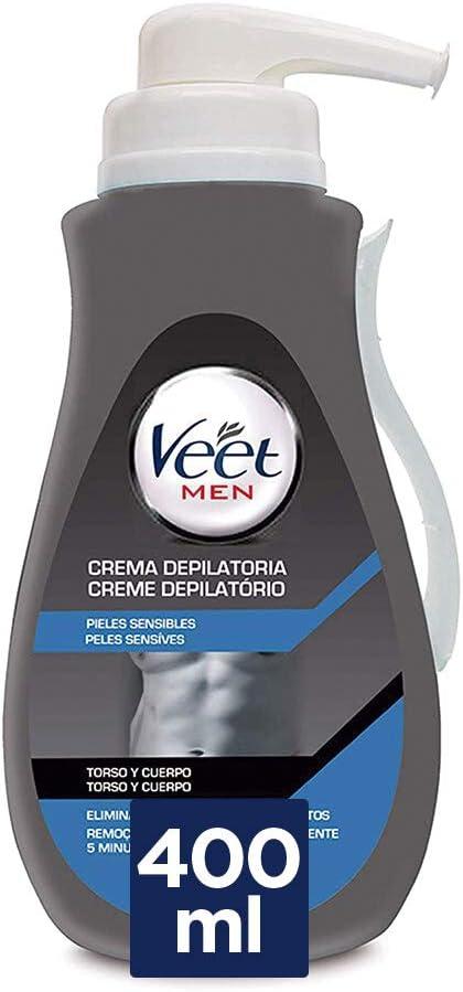 VEET Men - Crema depilatoria con dosificador para pieles sensibles, 400 ml: Amazon.es: Salud y cuidado personal