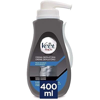 VEET Men crema depilatoria pieles sensibles dosificador 400 ml