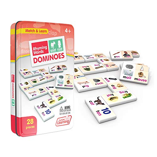 Rhyming Words Match - Junior Learning Rhyming Word Dominoes Educational Action Games