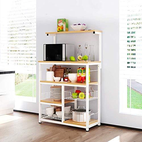 XQY Mesa de Pared, Mesa de diseño Creativo, estantería, Cocina de pie, gabinete de múltiples Capas, armarios, hogar, Horno...