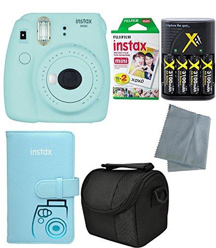Fujifilm-Instax-Mini-9-Instant-Camera-Mini-9-2017-Release-6-Pack-Accessory-camera-bundle--20-Instax-film-Cameravideo-case--instax-leather-album-And-much-more1-year-warranty