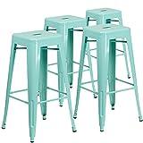 Flash Furniture 30'' High Backless Crystal Teal-Blue Indoor-Outdoor Barstool-P