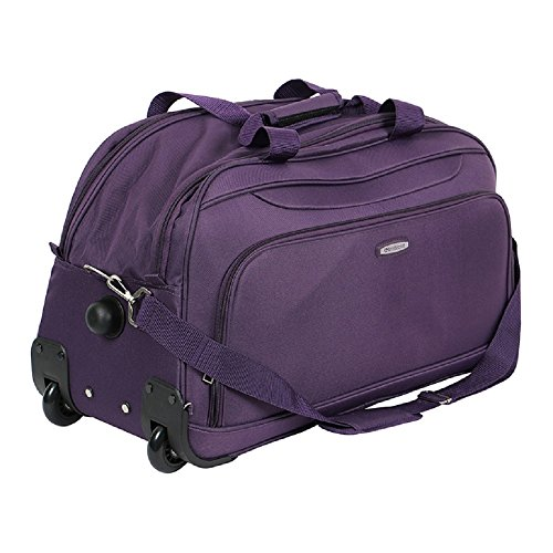 Aristocrat Dart Polyester 55 cm Violet Soft Duffle On Wheels Trolley   Amazon.in  Bags eef3dae129a6e
