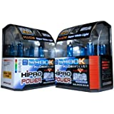 Hipro Power 9005 + H11 5900K Super White Xenon HID Headlight Bulbs - Low Beam & High Beam