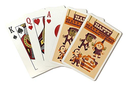 Apple Bobbing - Retro Halloween (Playing Card Deck