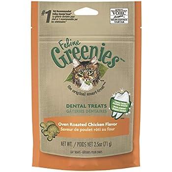 FELINE GREENIES Natural Dental Care Cat Treats 2.5 oz, Chicken