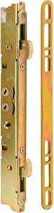 Prime-Line E 2473 Sliding Door Multi-Point Mortise Lock and Keeper, 9-7/8 in., Round Edge Faceplate, Pack of 1 Set