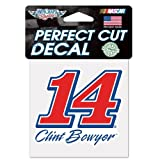 "NASCAR Clint Bowyer Perfect Cut Color Decal, 4"" x 4"""