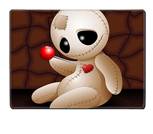 Liili Natural Rubber Placemat IMAGE ID: 23107052 Voodoo Doll Cartoon in Love x (Halloween Love Superstitions)