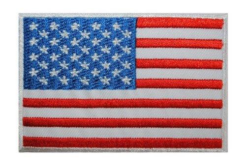 B/ügelbild // Aufn/äher Applikation alles-meine.de GmbH USA Fahne Wappen Flagge Amerika 6 cm * 4 cm