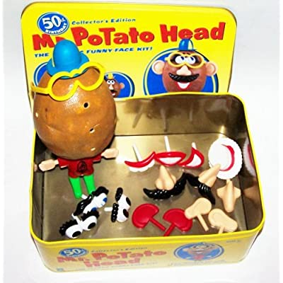 50th Birthday Collector's Edition Mr. Potato Head, the Classic Funny-face Kit in Tin Box: Toys & Games