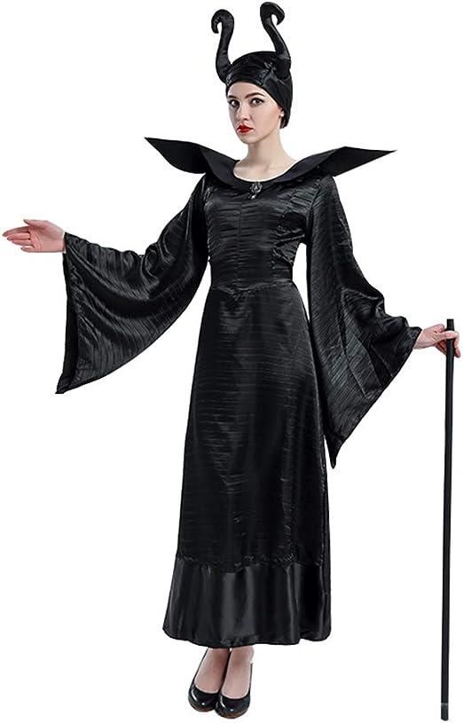 RENJIANFENG Disfraces De Halloween para Mujeres De Maléfica ...