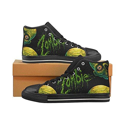 D-story Custom Zombie Uomo Classico High Top Scarpe Di Tela Moda Sneaker