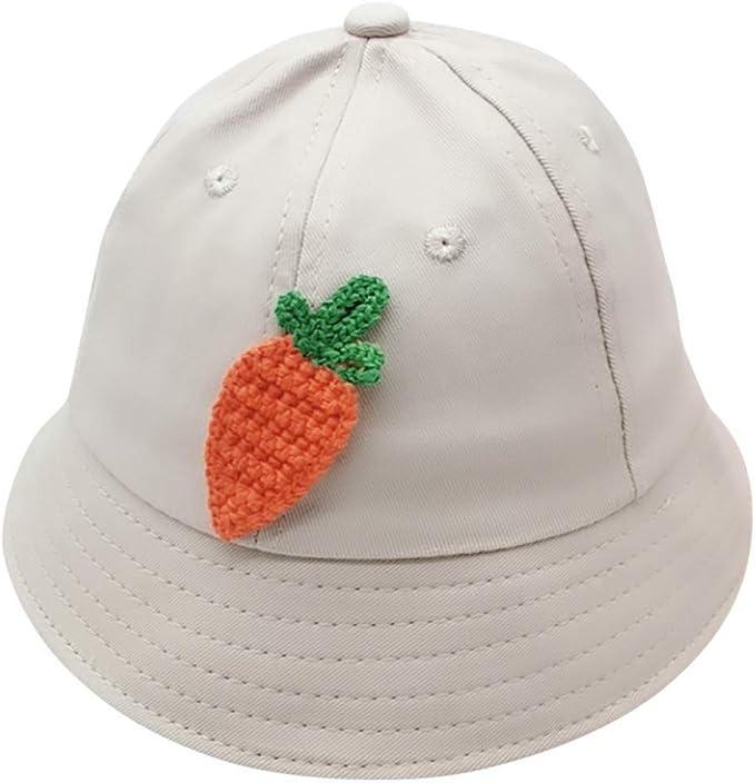 Ruffled Princess Bucket Hat Cap Happy Cherry Baby Girls Kids Sun Hat UPF 50