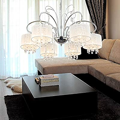 OOFAY LIGHT® Simple and elegant 6-head crystal chandelier, Fashionable crystal chandelier for dining room, Modern crystal chandelier of living room