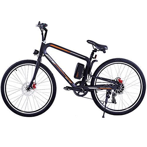 HJHJ Bicicleta de montaña eléctrica Todoterreno Bicicleta híbrida eléctrica para Hombres Bicicleta eléctrica de 26 Pulgadas con Luces LED Delanteras y traseras/Tres Modos de conducción