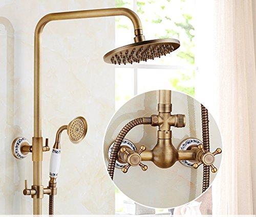 U GFEI Antique shower nozzle set   European style all copper bathroom, retro bathroom, lift shower, sprinkler, shower faucet,U