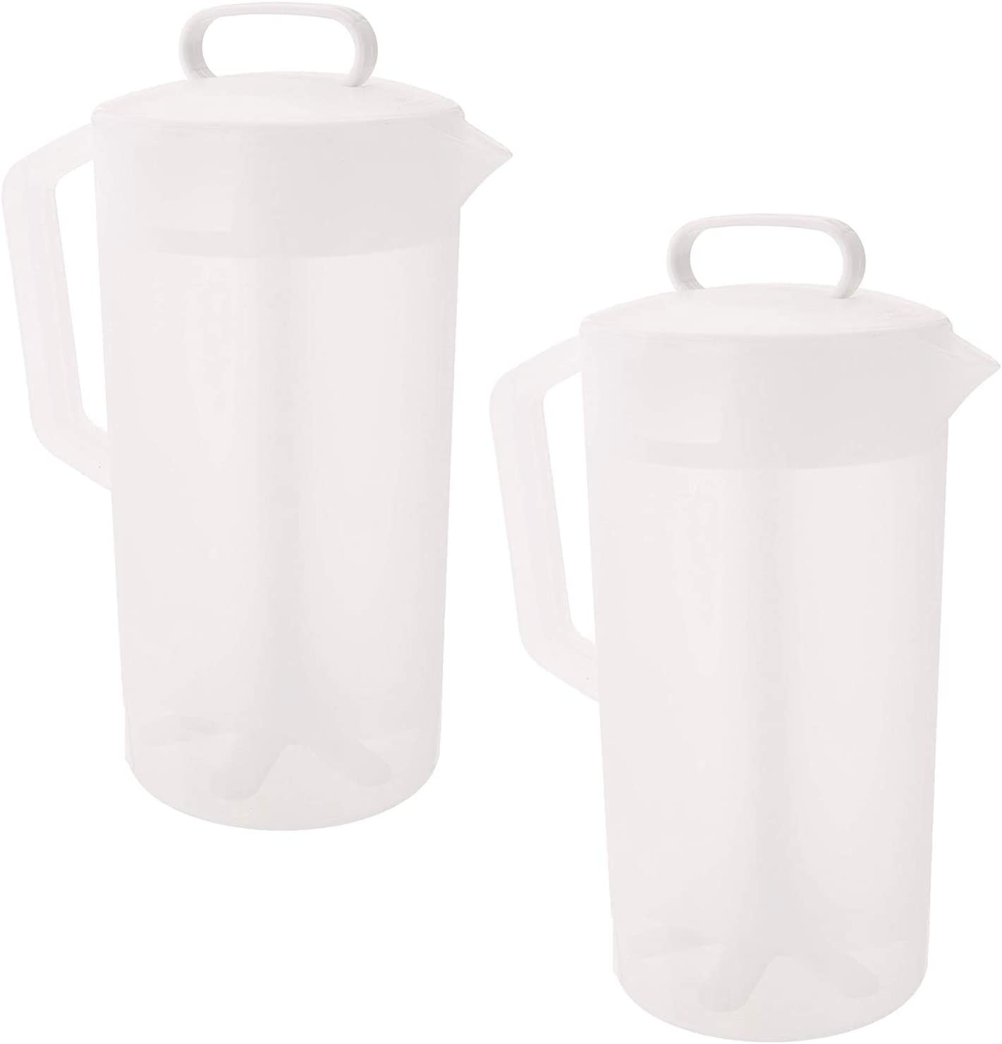 Rubbermaid - Mixing Pitcher, (2 Quart Capacity), (White) (2 Pack)