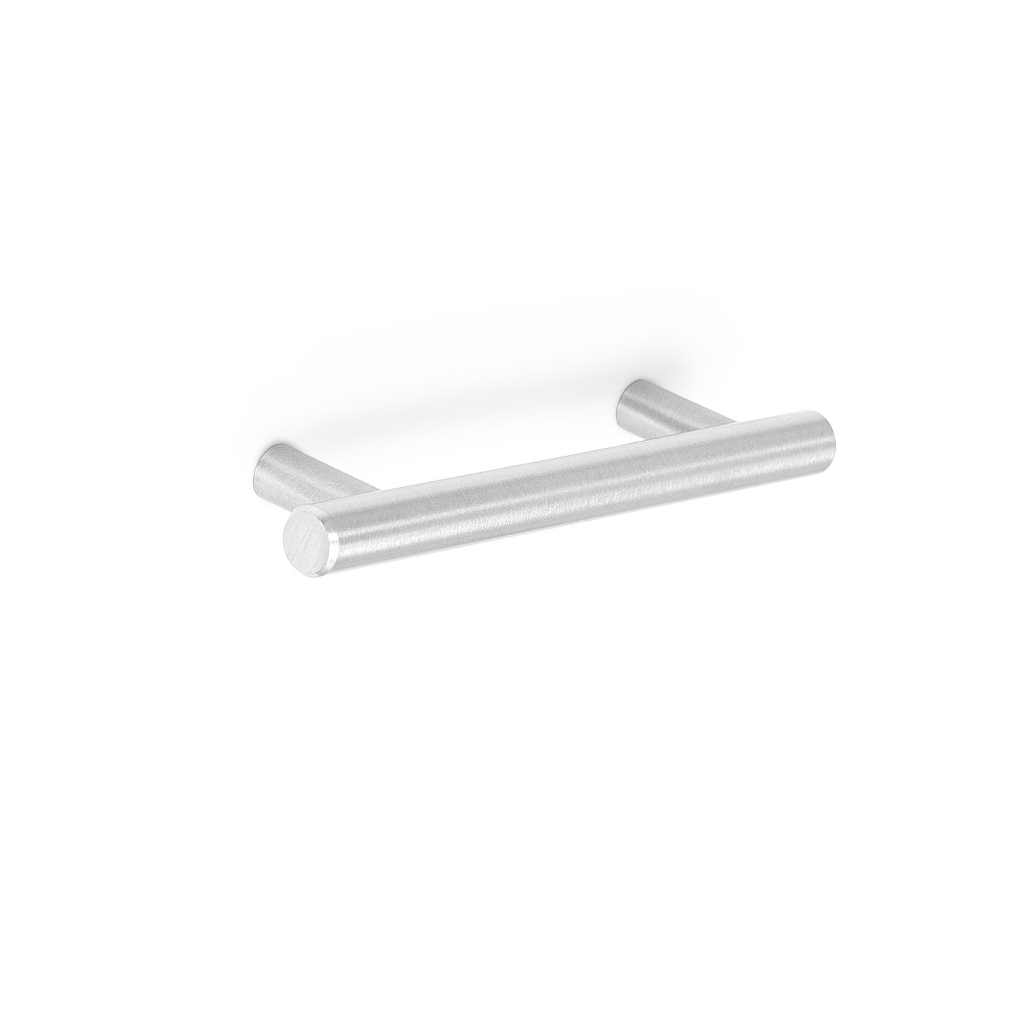 BirdRock Home Simple Modern Rounded T-Bar Handle | Brushed Nickel | 10 Pack | 3.75 Inch Kitchen Cupboard Furniture Cabinet Hardware Drawer Pull Trad