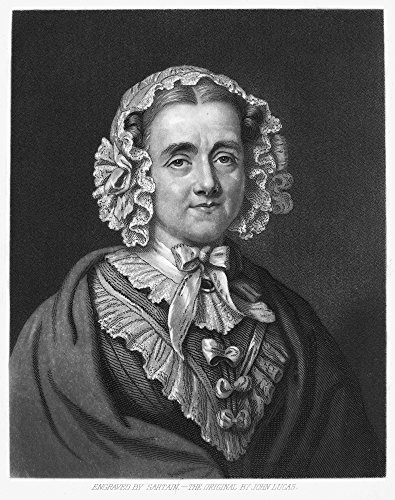 Posterazzi Poster Print Collection Mary Russell Mitford/N(1787-1855). English Writer. Mezzotint by John Sartain, (24 x 36), Multicolored