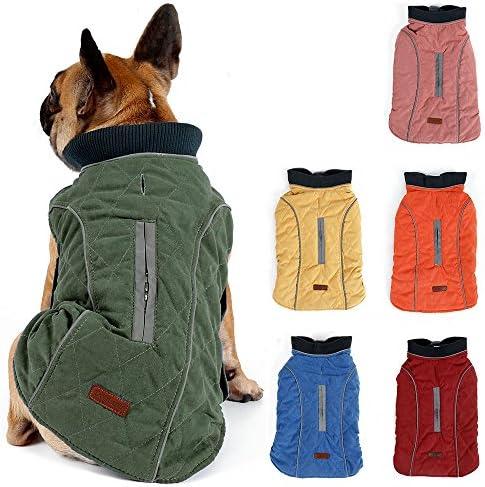 Tineer Reflektierende Hund Jacke Puppy Weiche Fleece M/äntel Herbst Winter Warm Reflektierende Mode Haustier Kleidung f/ür Gro/ße Hunde