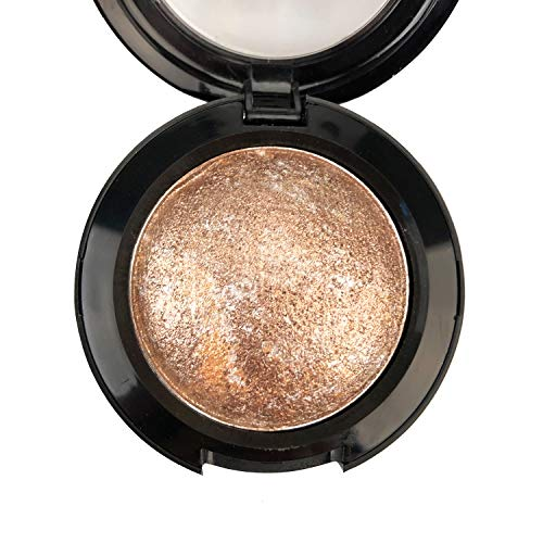 Mallofusa Single Color Baked Eye Shadow Palette Glitter Powder ,Brown,CES3812 (Best Eyeshadow For Light Brown Eyes)