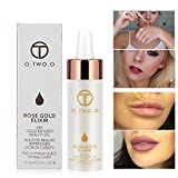 O.TWO.O Makeup Oil 24k Rose Gold Elixir Skin Beauty Oil Essential Oil Before Primer Foundation Moisturizing Face Oil Make Up Base For Face