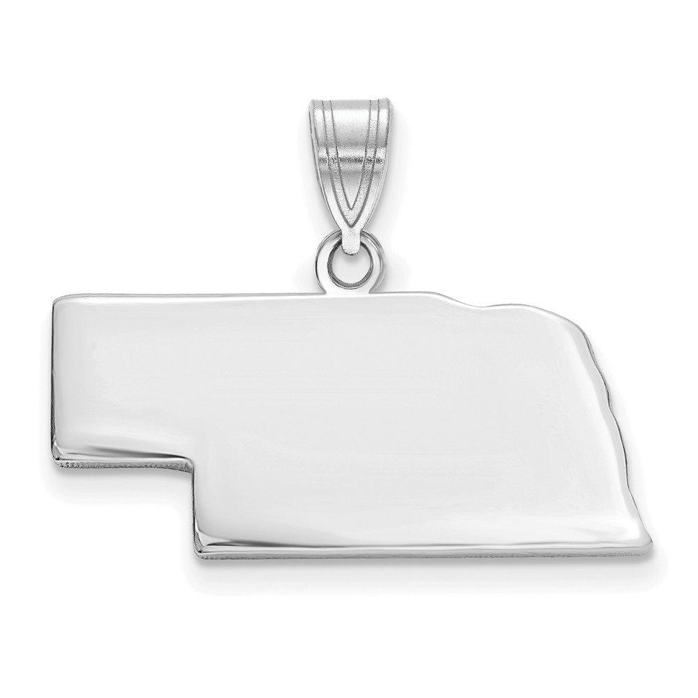 Mia Diamonds 14k White Gold NE State Pendant Bail Only