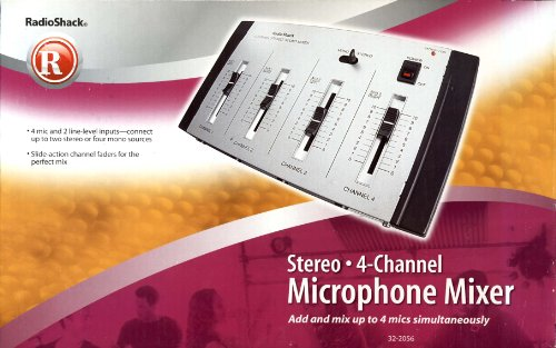 RadioShack Stereo 4-Channel Microphone Mixer - (32-2056)