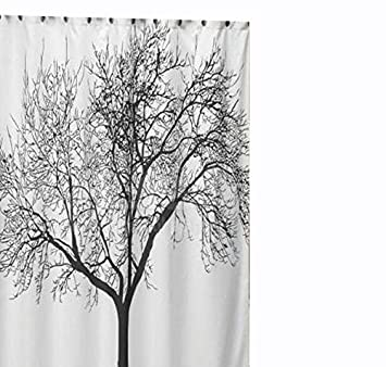 Amazoncom Jillban Shower Curtain White Waterproof Bathroom Fabric
