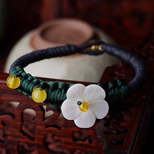Wolegequ Main Bijoux de mode artisane bijoux pour femmes Les Filles du vent National manuellement bracelet simple et élégante classique tricot les coquilles bracelet fleurs