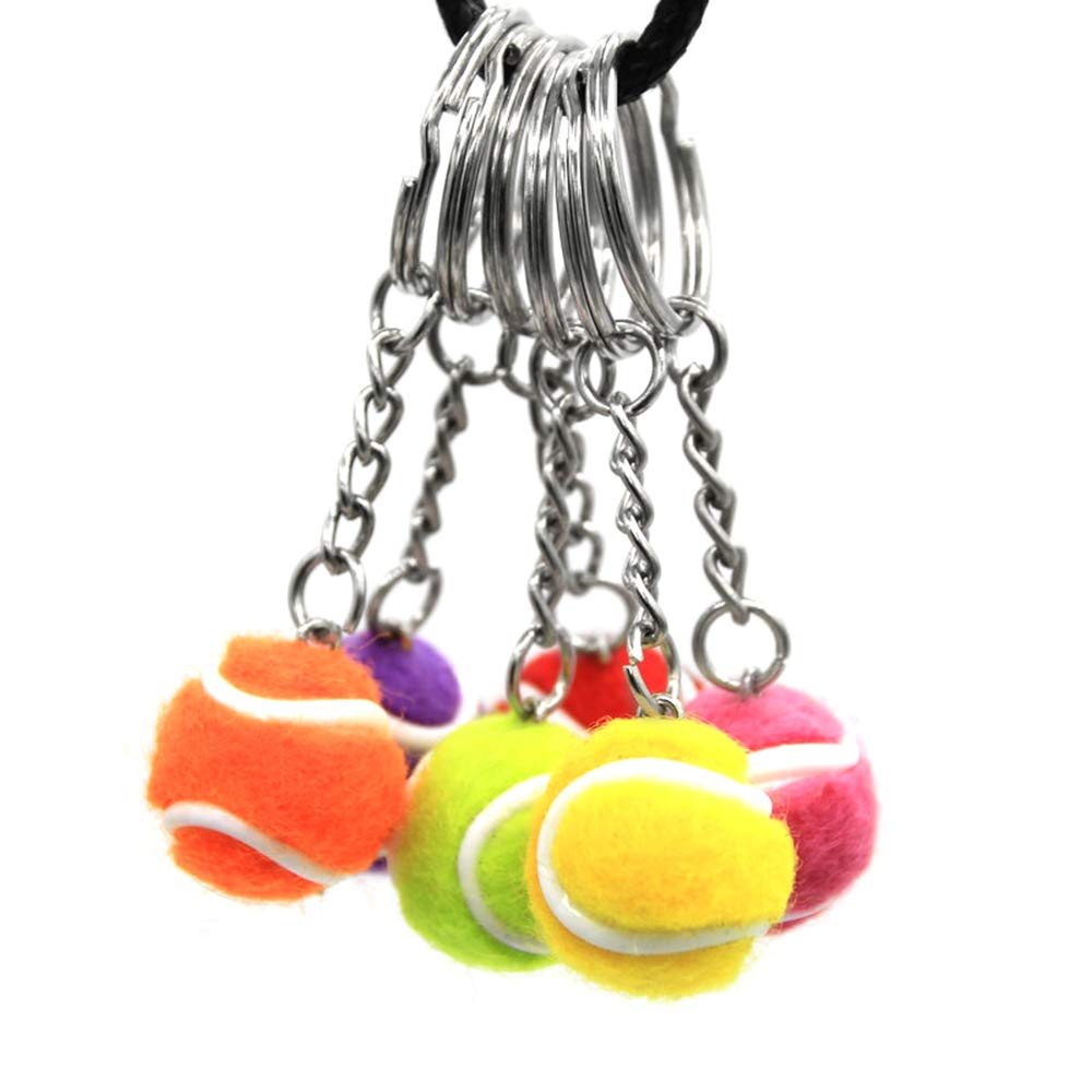 Lixada Mini Llavero de Forma de Pelota de Tenis, Llavero Tenis de ...