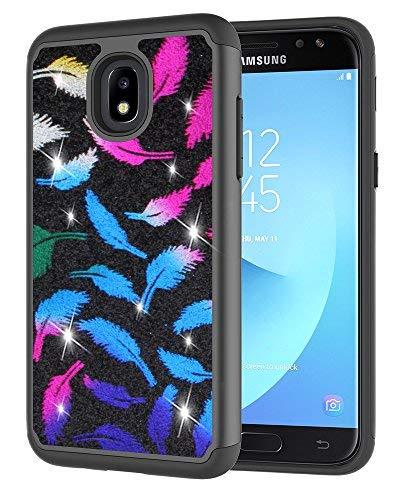 Galaxy J7 2018 Case,Galaxy J7 Refine Case,Galaxy J7 Star Case,Galaxy J7 Crown Case,Galaxy J7V 2nd Gen Case,J7 Aura Case,Asmart Defender Cover Protective Phone Case for Samsung Galaxy J7 V 2018,Black