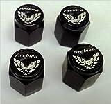 Pontiac Firebird Formula Valve Stem Caps (Black - White/Black)