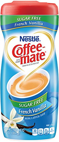 Coffee-mate Coffee Creamer Sugar Free French Vanilla, Pack of 6 (10.2 Ounce)