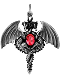 Double Dragon Pendant Collectible Medallion Necklace Accessory Jewelry