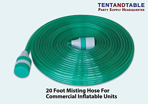 Amazon.com: 20 Foot Long PVC Plastic Water Misting Hose For Inflatable Water  Slide Bounce Houses: Toys U0026 Games