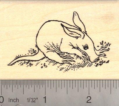 Aardvark Rubber Stamp