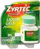 Zyrtec Allergy 10 mg Liquid Gels - 40 ct, Pack of 4