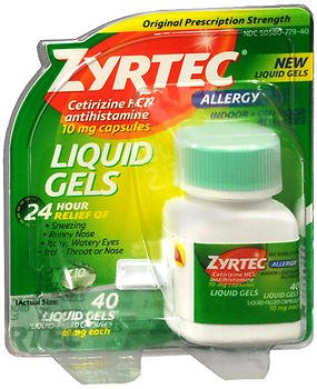 Zyrtec Allergy 10 mg Liquid Gels - 40 ct, Pack of 4
