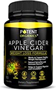 100% Organic Apple Cider Vinegar - 90 Capsules for Healthy Diet & Weight Loss- Pure, Raw, Vegan and Non-GMO - Helps Digestion - Made in USA - Add to Garcinia Cambogia? and Your Diet Kits & Systems