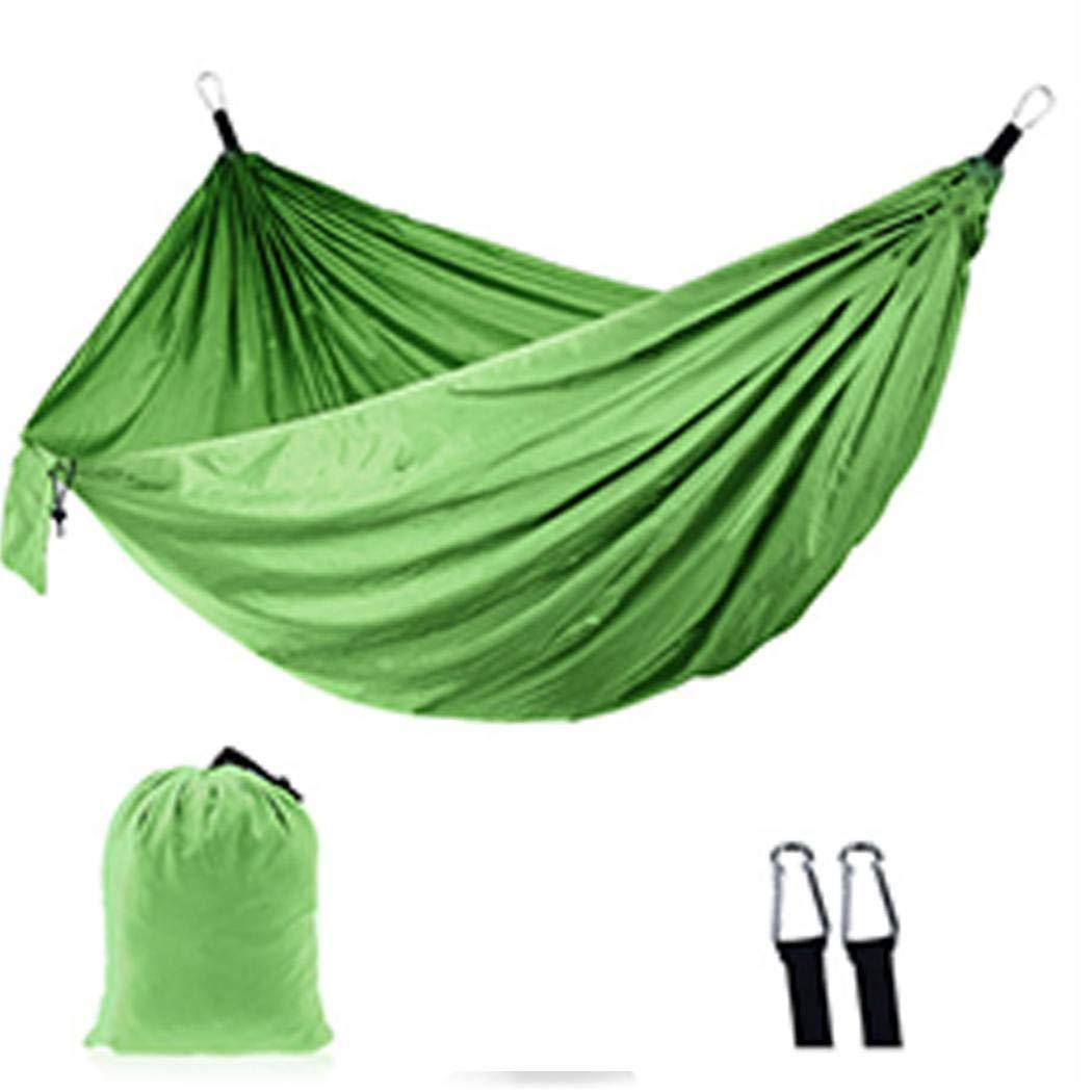 Yangiug Portable Outdoor Camping Double Hammock 210T Parachute Nylon Indoor Casual Swing Hammocks